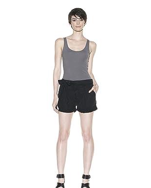 Habitual Denim Women's Tilly Cuffed Shorts (Noir)