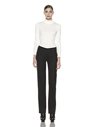 Costume National Women's Layered Waist Pants (Light Grey)