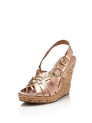 Corso Como Women's Diver Wedge Sandal (Rose Gold Paris)