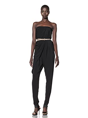 L.A.M.B. Women's Strapless Jumpsuit (Black)