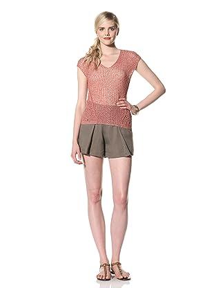 Rogan Women's Taraza Short Sleeve Sweater (Faded Sunspot)