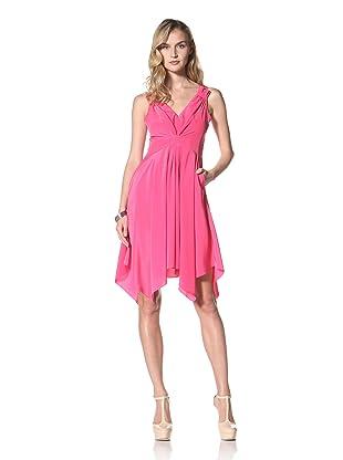 Yoana Baraschi Women's Solid Asymmetrical Dress (Strawberry)