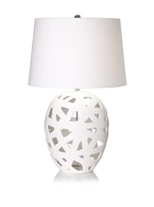 Lighting Accents Bisque Ceramic Table Lamp (White)