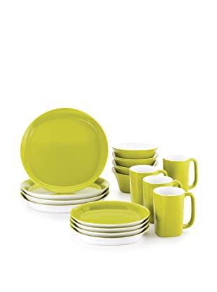 Rachael Ray Dinnerware Round & Square 16-Piece Dinnerware Set (Green)