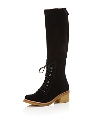 Belle by Sigerson Morrison Women's 6643 Knee-High Boot (Black Suede)