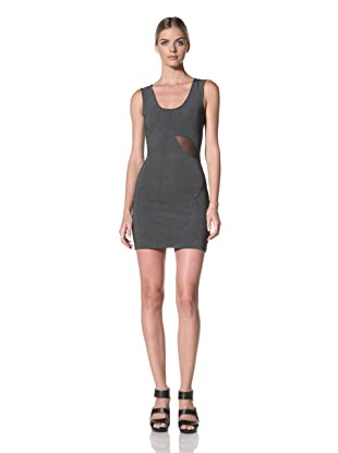 FACTORY by Erik Hart Women's Scoop Neck Dress with Waist Cutout (Heather Charcoal)