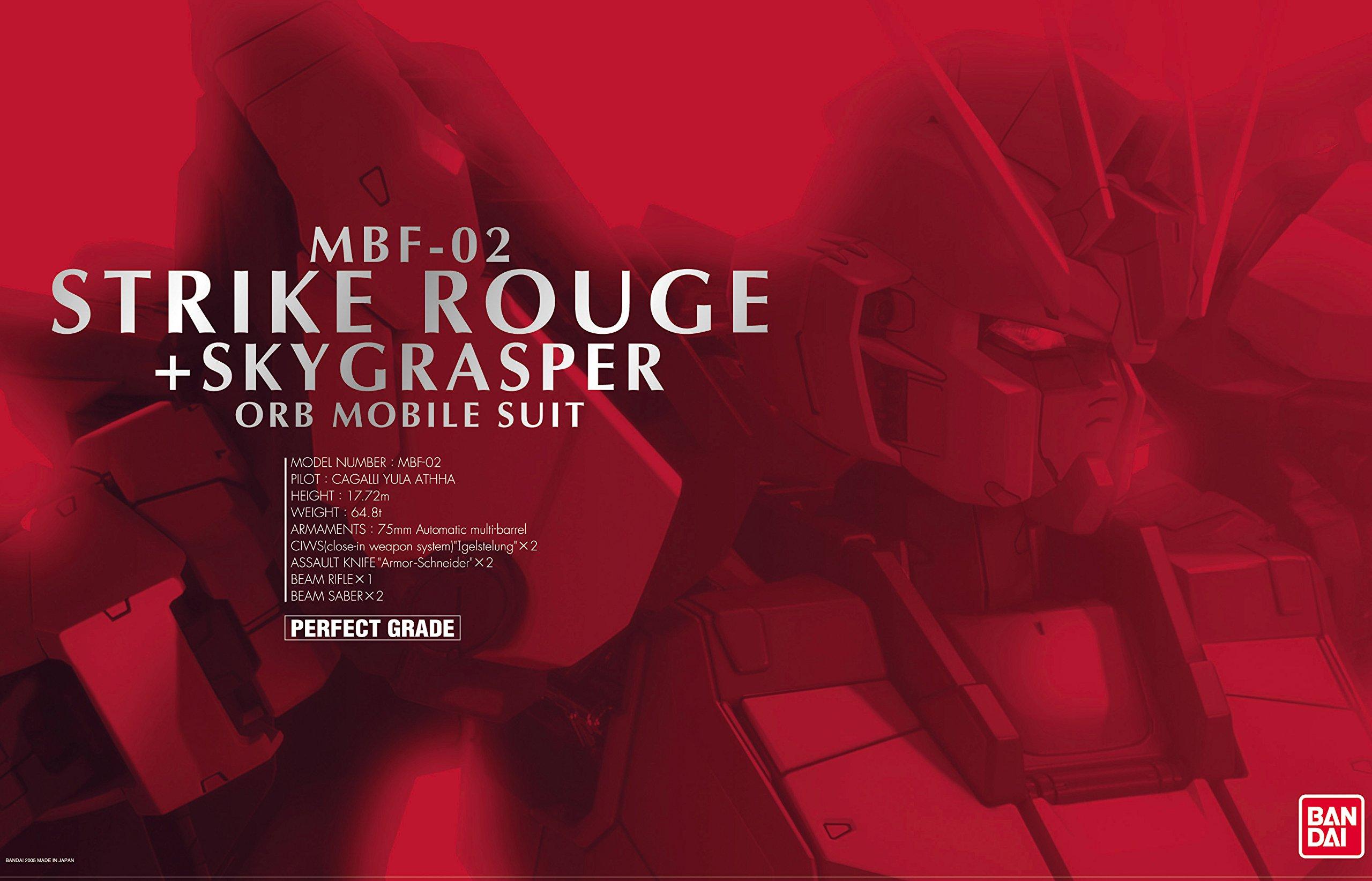 PG MBF-02+AQM/E-X01 翔翼型嫣红强袭+FX-550 空中霸王(1:60)