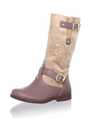 Pampili Kid's Tall Heart Boot (Brown)
