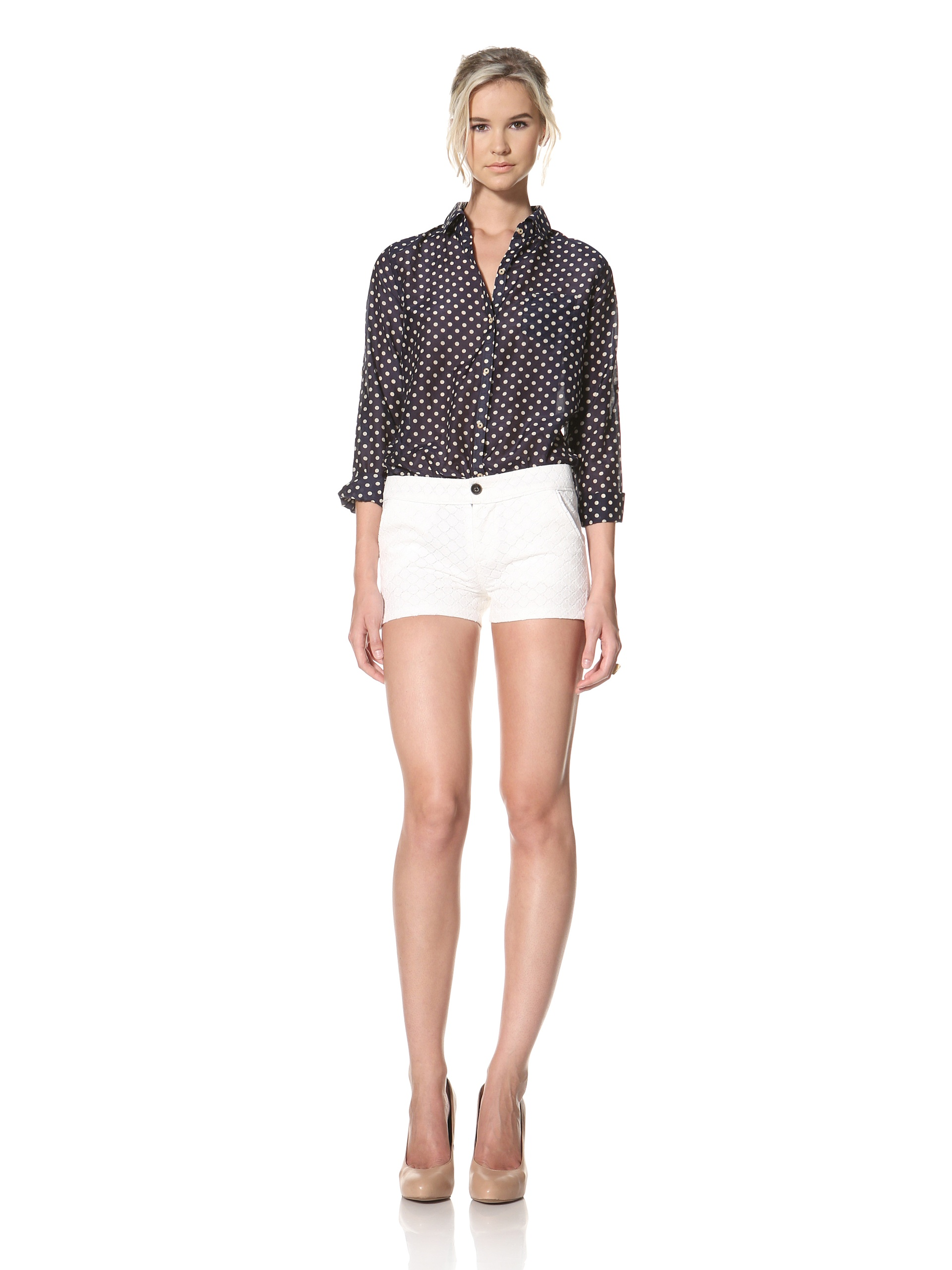 Trovata Women's Marquette Short (Antique White Lace)