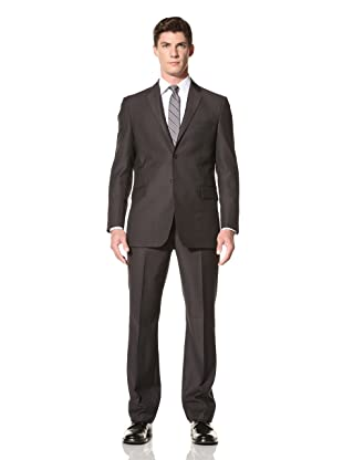 Yves Saint Laurent Men's Herringbone Suit (Grey)