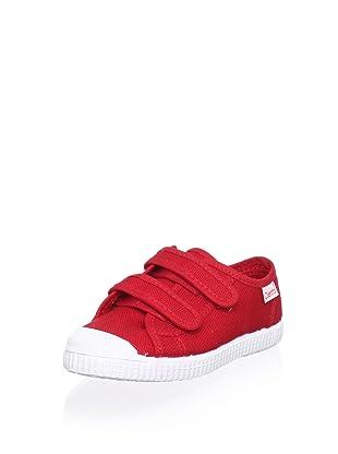 Cienta Kid's Double Strap Sneaker (Red)