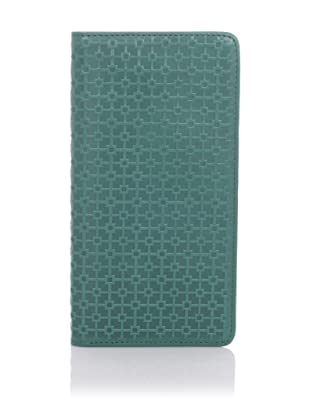 Hlaska Artifacts Women's Embossed Slim Check Wallet (Teal)