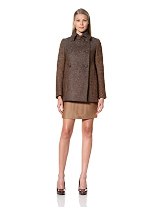 MARTIN GRANT Women's Two-Tone Peacoat (Chestnut)