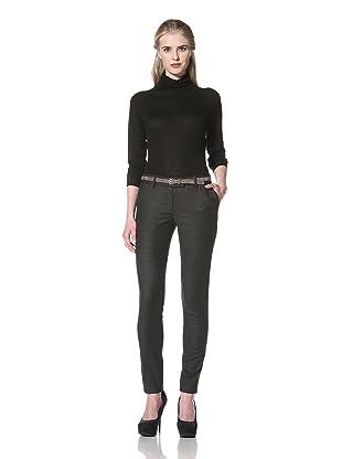 L.A.M.B. Women's Flannel Skinny Pant (Charcoal)