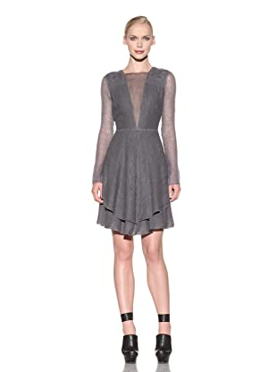 Costume National Women's Wool Blend Dress (Grey)