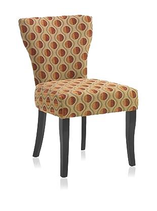 Armen Living Harrington Chair, Gold/Poppy