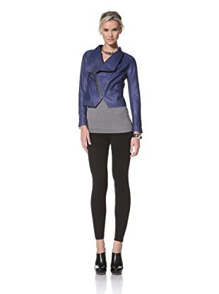 HARE + HART Women's Schiller Leather Jacket (Cobalt)