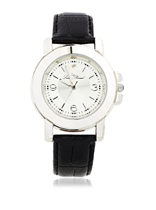 Lucien Piccard Men's 28506BK Black, Champagne & White Leather Watch