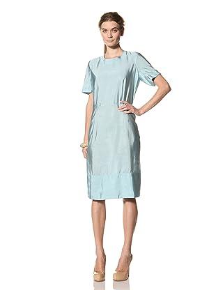 MARNI Women's Short Sleeve Round Neck Dress (Turquoise)