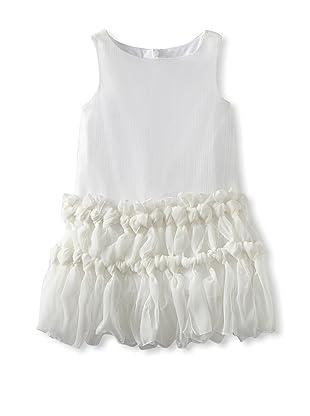 Charabia Girl's Sleeveless Chiffon Dress (White)