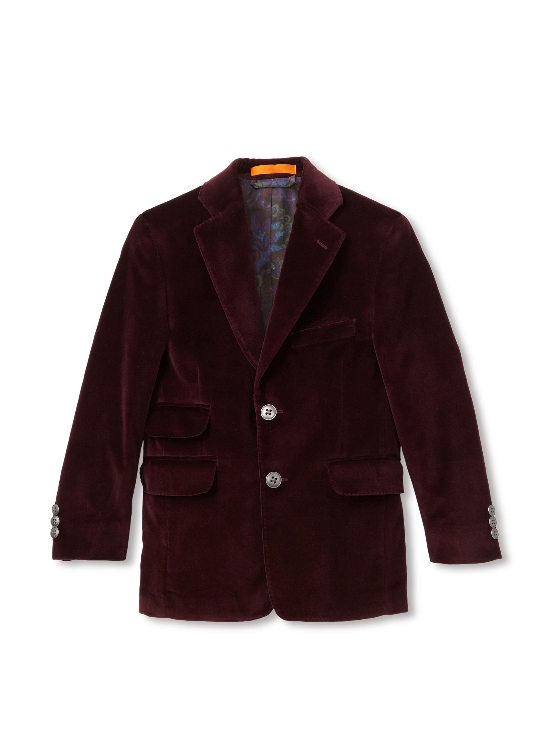 Tallia Orange Boy's Velvet Sportcoat (Wine)