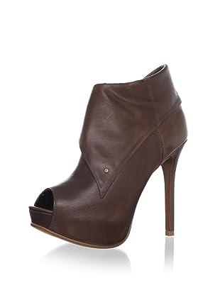 Schutz Women's Draped Open-Toe Bootie (Brown)