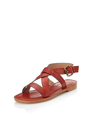 Pour La Victoire Women's Mariza Flat Sandal (Rust)