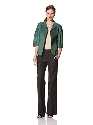 MARNI Women's Half Sleeve Notch Collar Jacket (Green)