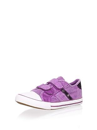 Billowy Kid's Dual Strap Canvas Sneaker (Purple)