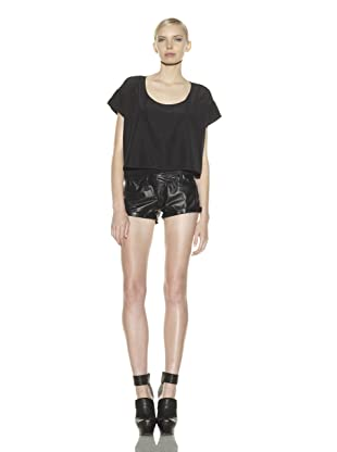 Costume National Women's Leather Shorts (Black)