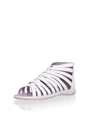 Billowy Kid's Strappy Sandal (White)