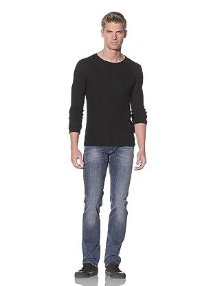 Just Cavalli Men's Ribbed Crew Neck Sweater (Black)