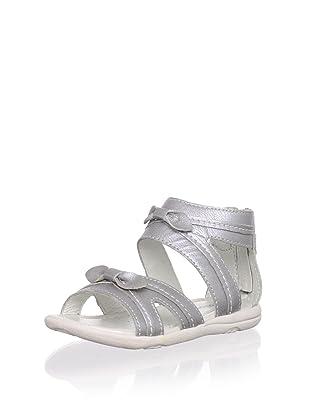 Billowy Kid's Criss-Cross Sandal (Silver)