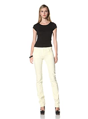 David Kahn Women's Niki Straight Leg Jean (Buttercup)