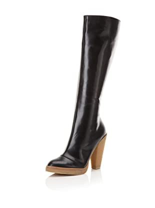 Belle by Sigerson Morrison Women's 6637 Knee-High Boot (Black Leather)