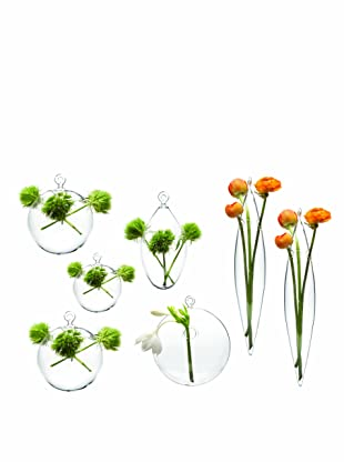 Chive Set of 7 Assorted Hanging Vases