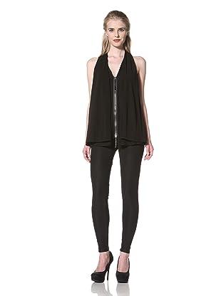 L.A.M.B. Women's Drape Jersey Top (Black)