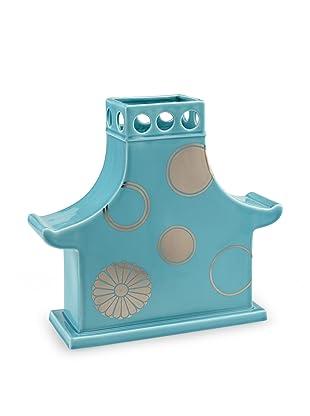 Global Views Temple Vase (Aqua)