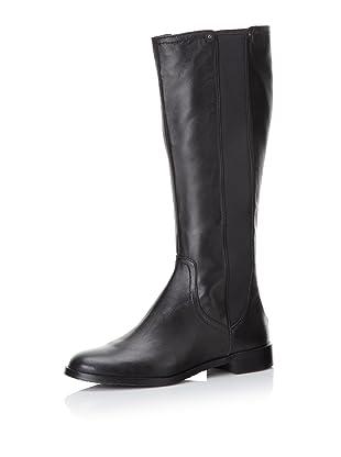 Adrienne Vittadini Women's Priscilla Gored Leather Boot (Black)