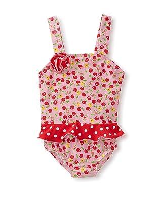 Bathing Beauty by Mack & Co Girl's Cherry Dot One Piece Swimsuit (Cherry)