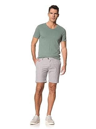 Brent Wilson The Basics Men's Tailored Cuff Short (Black/White Stripe)