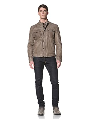 Andrew Marc Men's Pub Racer Stand Collar Jacket (Military)