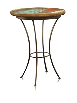 Reclaimed Wood Furniture Bombay Iron Base Side Chair Table
