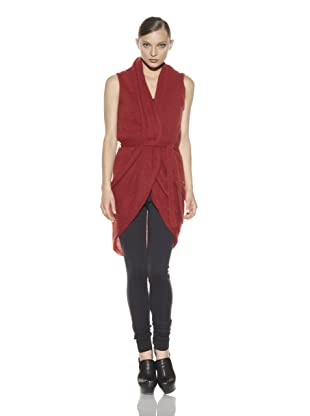 Costume National Women's Long Sweater Vest (Red)