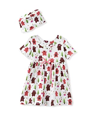 Barn Organics Baby Girl's Dolly Dress with Hat (Lil Honeybear)