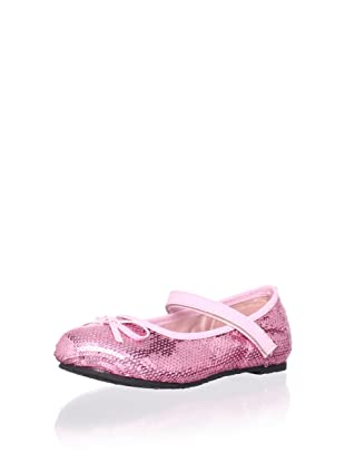 China Doll Girl's Sequin Mary Jane (Baby Pink)