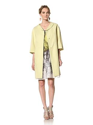 MARNI Women's Half Sleeve Duster Coat (Light Lime Green)