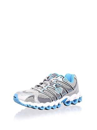 K-Swiss Women's Ultra Tubes 100 Running Shoe (Silver/Charcoal/Neon Blue)