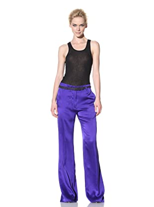 Haider Ackermann Women's Silk Trousers (Blue)