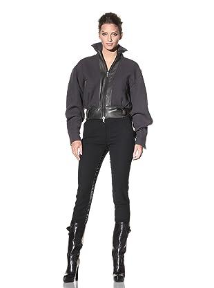 Haider Ackermann Women's Leather Trimmed Jacket (Anthracite)
